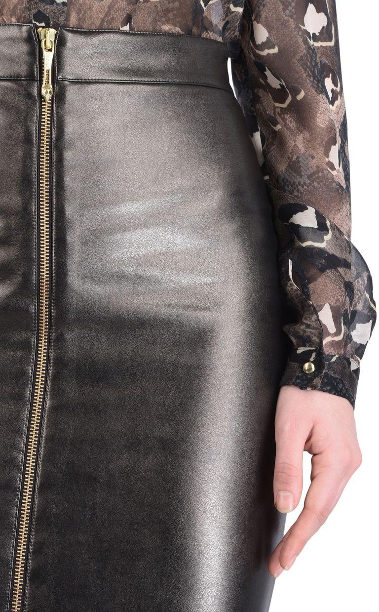 JUST CAVALLI Leather-look midi skirt Knee length skirt [*** pickupInStoreShipping_info ***] e