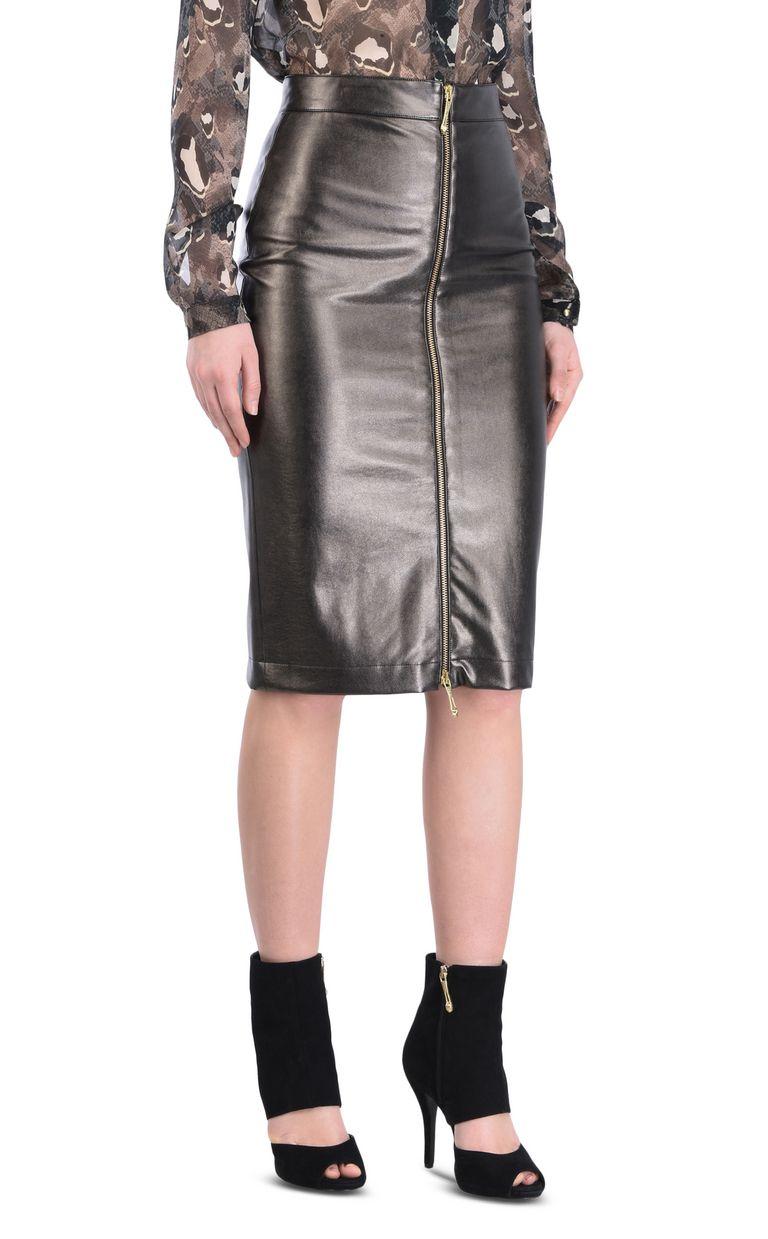 JUST CAVALLI Leather-look midi skirt Knee length skirt [*** pickupInStoreShipping_info ***] f