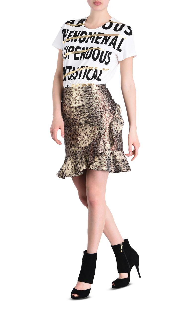 JUST CAVALLI Mini skirt with frill detail Skirt [*** pickupInStoreShipping_info ***] r