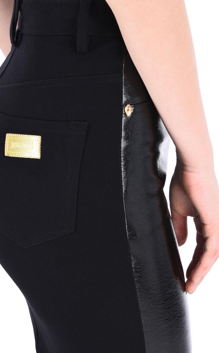 JUST CAVALLI High-shine denim-look mini skirt Mini skirt [*** pickupInStoreShipping_info ***] e