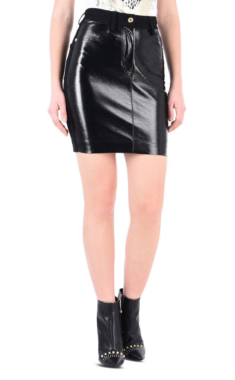 JUST CAVALLI High-shine denim-look mini skirt Mini skirt [*** pickupInStoreShipping_info ***] f