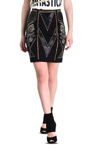 JUST CAVALLI Long skirt Woman Long skirt in Cracking Beauty print f