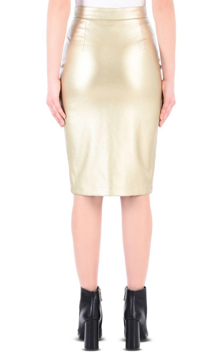 JUST CAVALLI Leather-look midi skirt Knee length skirt Woman d