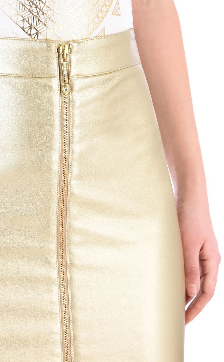 JUST CAVALLI Leather-look midi skirt Knee length skirt Woman e