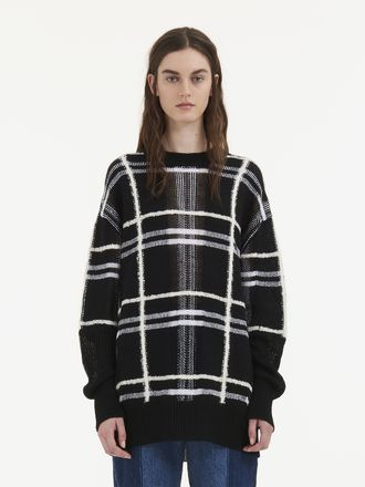 Patched Tartan Check Sweater