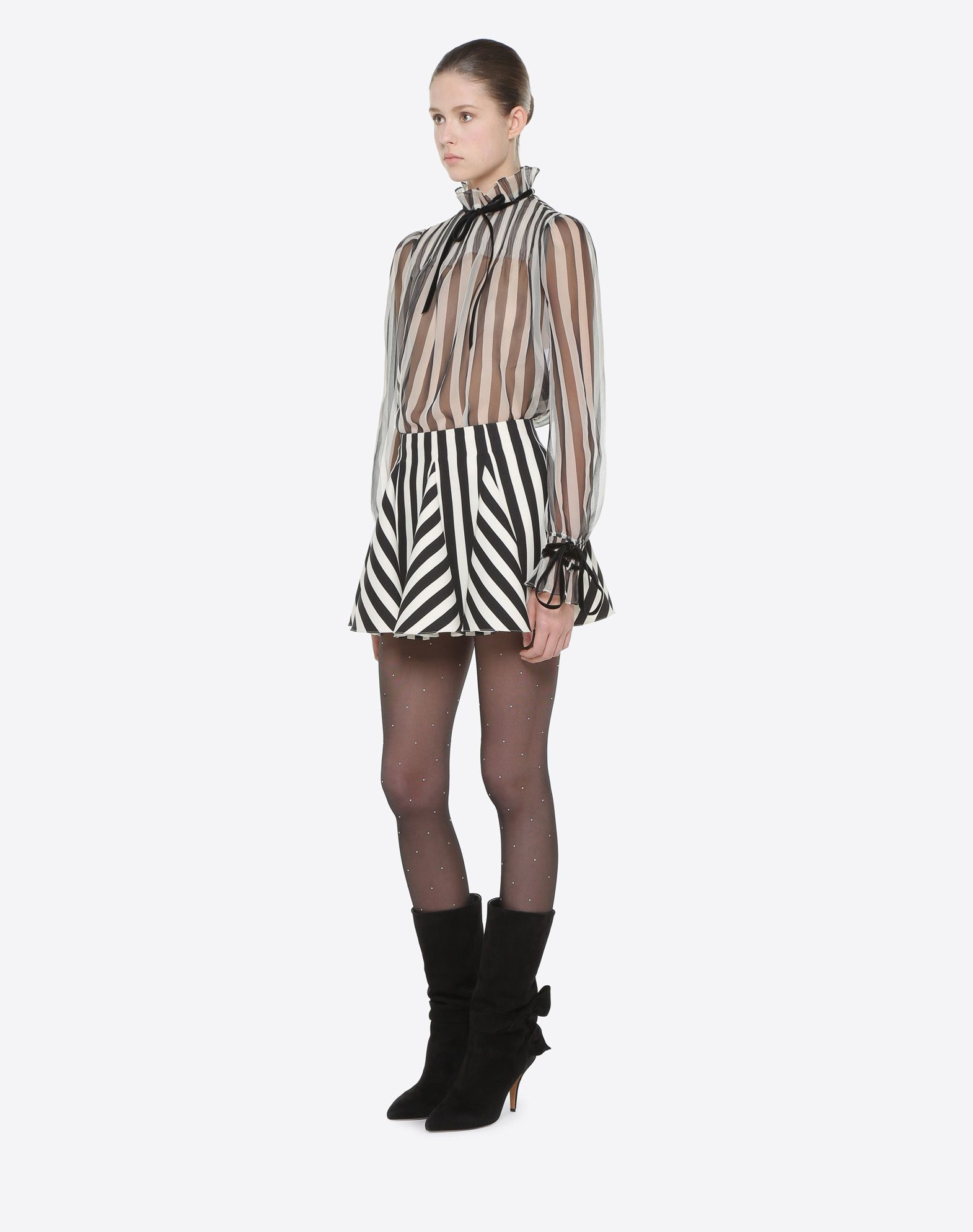 VALENTINO Stripes Re-edition 迷你半裙 半身裙 D d