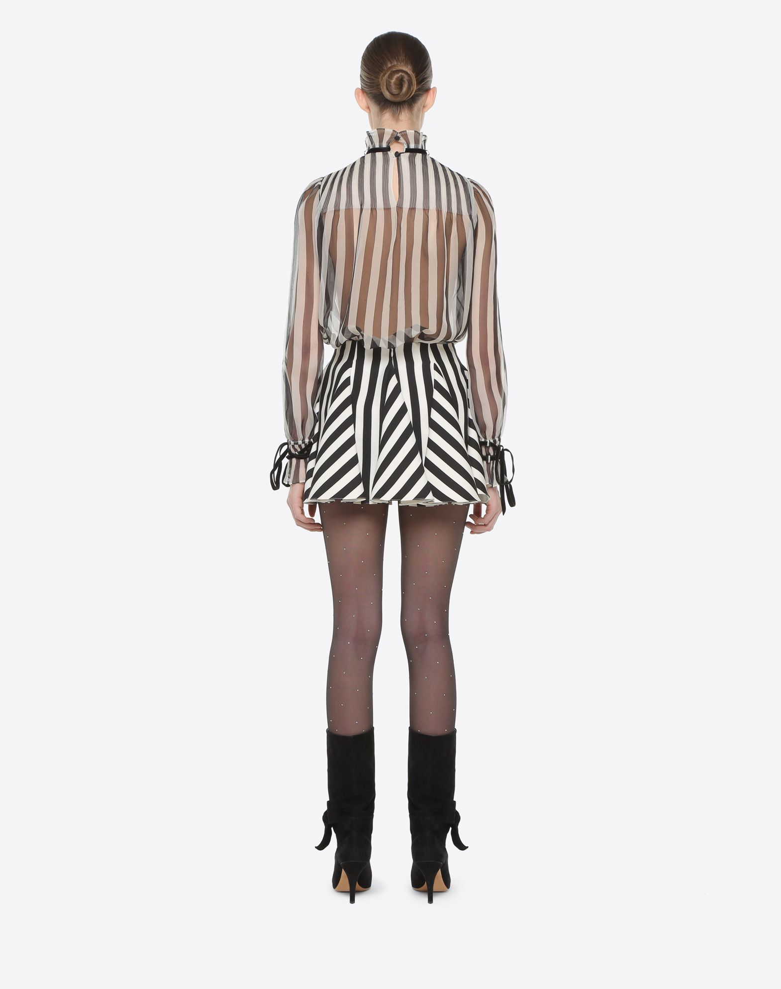 VALENTINO Stripes Re-edition 迷你半裙 半身裙 D e