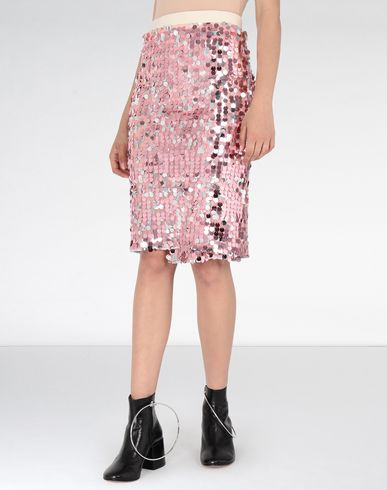 MM6 MAISON MARGIELA Knee length skirt Woman High-waisted sequined dress f