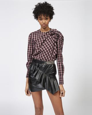 ISABEL MARANT ÉTOILE SHORT SKIRT Woman ZEIST faux leather skirt r
