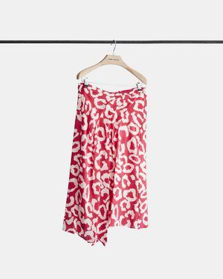 CACIA printed silk skirt