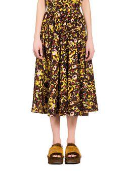 Marni Marken print poplin skirt  Woman
