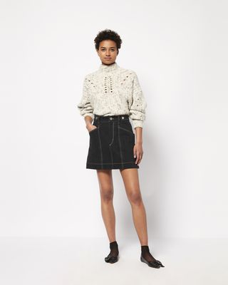 GAYLE denim mini skirt