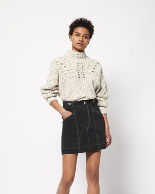 ISABEL MARANT GONNA CORTA Donna GAYLE Minigonna in denim r