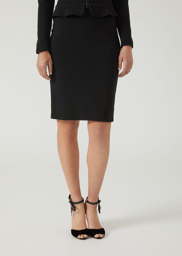3c206e10d9 Jersey pencil skirt with ottoman-effect | Woman | Emporio Armani