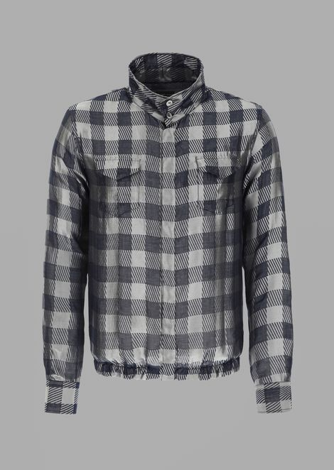 Patterned jacquard shirt with pockets