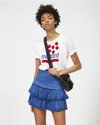 ISABEL MARANT ÉTOILE SHORT SKIRT Woman NAOMI cotton voile skirt r