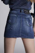 DSQUARED2 Square Patch Light Dalma Mini Skirt Skirt Woman