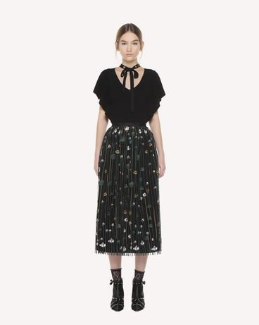 REDValentino Garden of Metamorphosis embroidered Tulle skirt