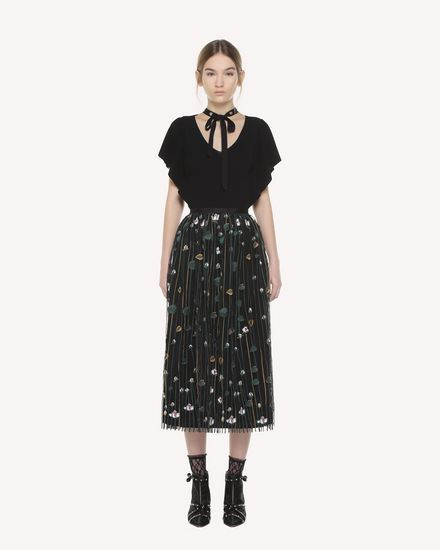 REDValentino Skirt Woman QR3RA03C3UG 0NO f