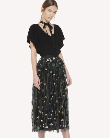 REDValentino QR3RA03C3UG 0NO Skirt Woman d