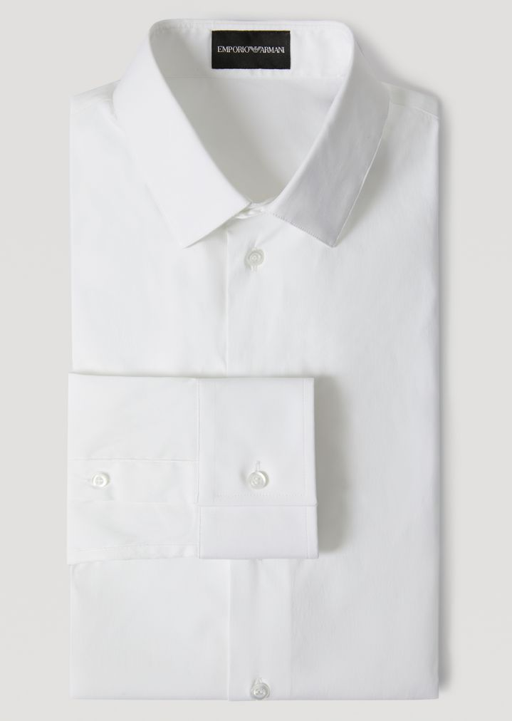 5b850031 SLIM FIT SHIRT IN STRETCH COTTON | Man | Emporio Armani