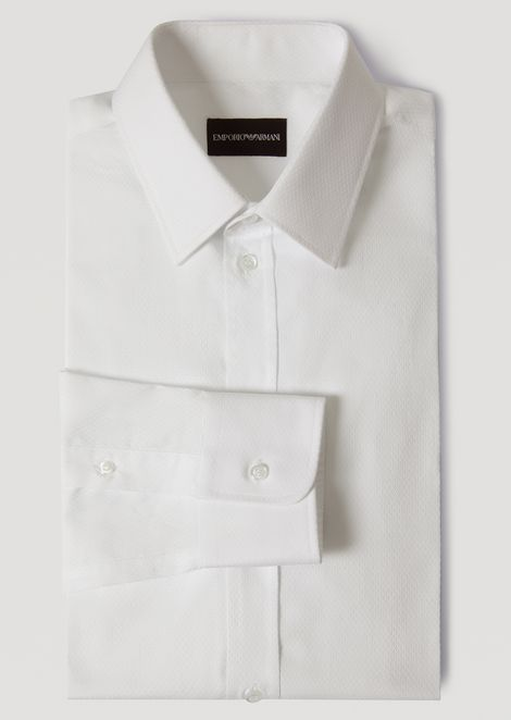 SHIRT IN MICRO-WOVEN COTTON