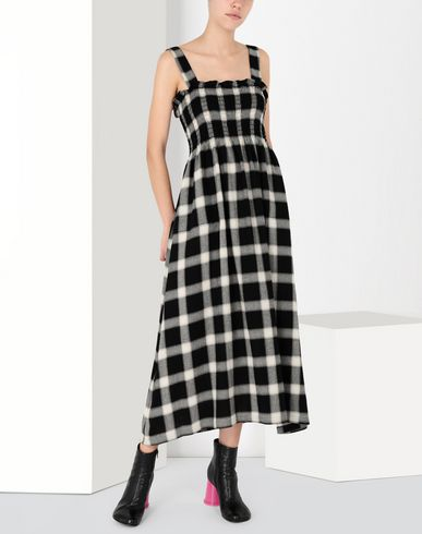 MM6 MAISON MARGIELA Long skirt [*** pickupInStoreShipping_info ***] Long checked woollen dress f