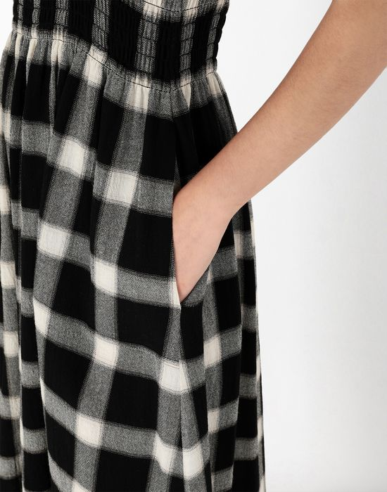 MM6 MAISON MARGIELA Long checked woollen dress Long skirt [*** pickupInStoreShipping_info ***] a