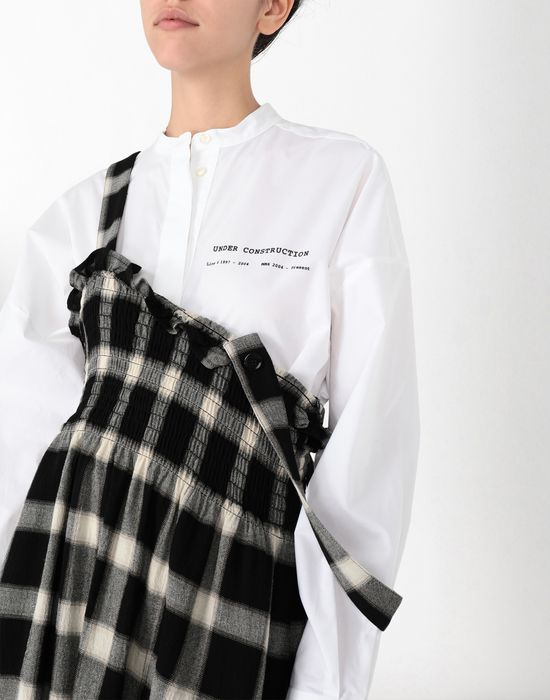 MM6 MAISON MARGIELA Long checked woollen dress Long skirt [*** pickupInStoreShipping_info ***] e