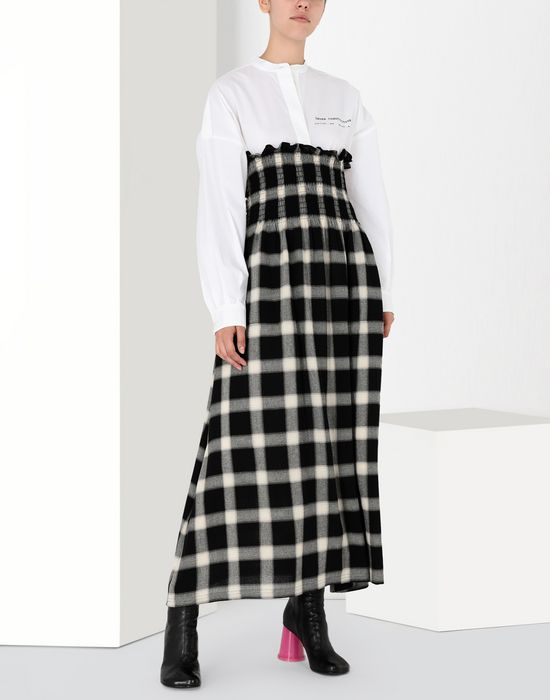 MM6 MAISON MARGIELA Long checked woollen dress Long skirt [*** pickupInStoreShipping_info ***] r