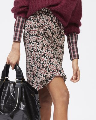 ISABEL MARANT ÉTOILE SHORT SKIRT Woman LOELA printed crêpe skirt r