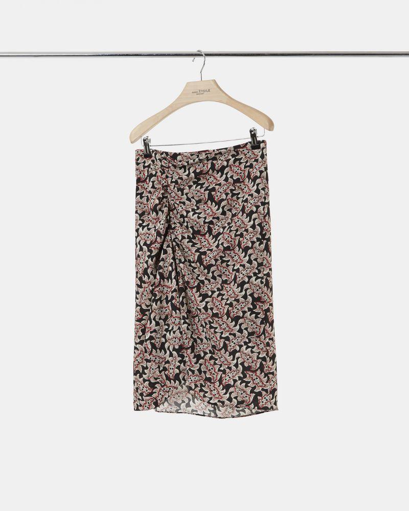 LOELA printed crêpe skirt ISABEL MARANT ÉTOILE