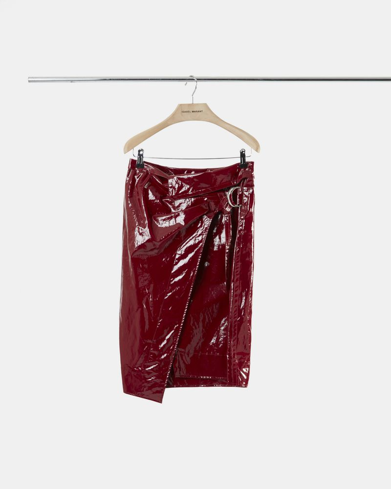 EOJI waxed cotton skirt ISABEL MARANT