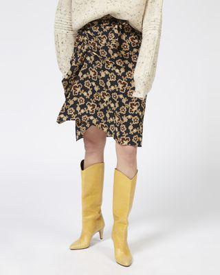 ISABEL MARANT ÉTOILE SHORT SKIRT Woman LOELA floral crêpe skirt r