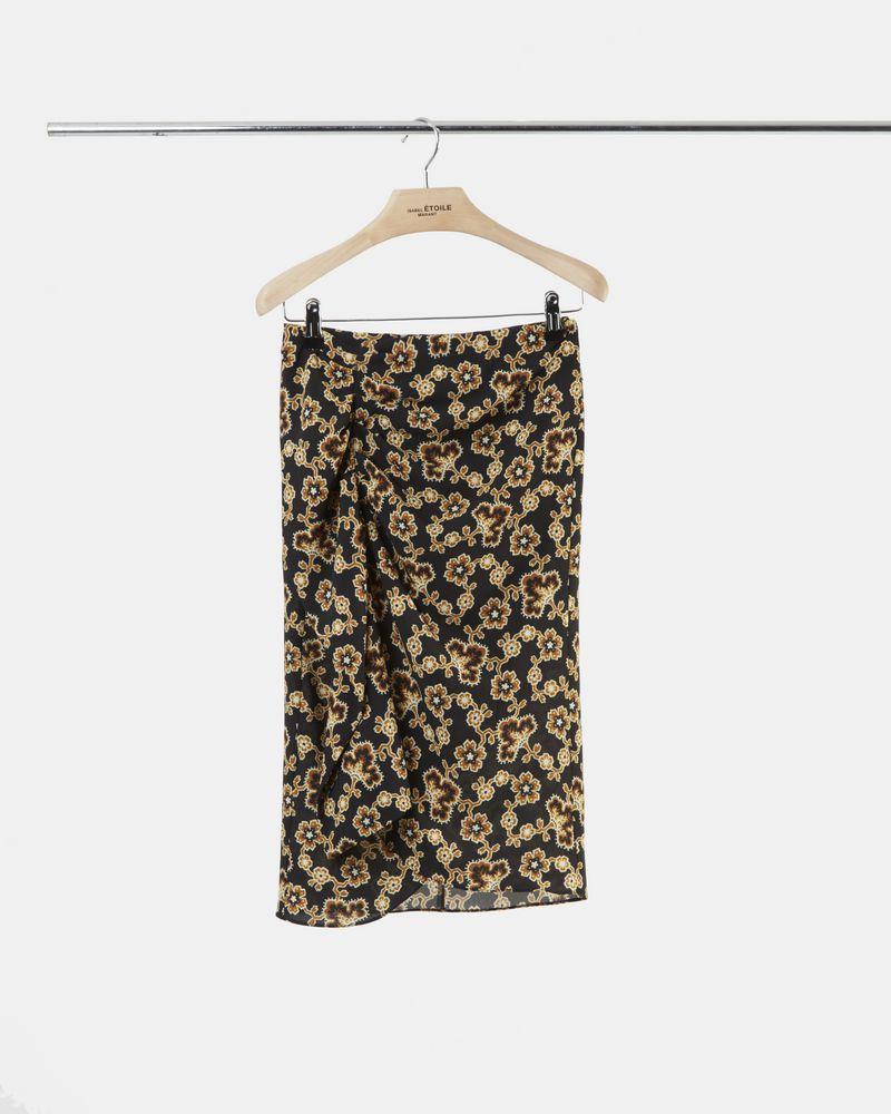 LOELA floral crêpe skirt ISABEL MARANT ÉTOILE