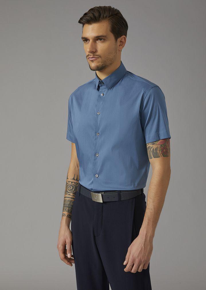 c5a7f17378f29 Short-sleeved shirt | Man | Giorgio Armani
