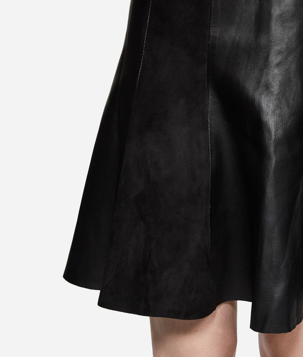 KARL LAGERFELD Leather and Suede Skirt Skirt Woman d