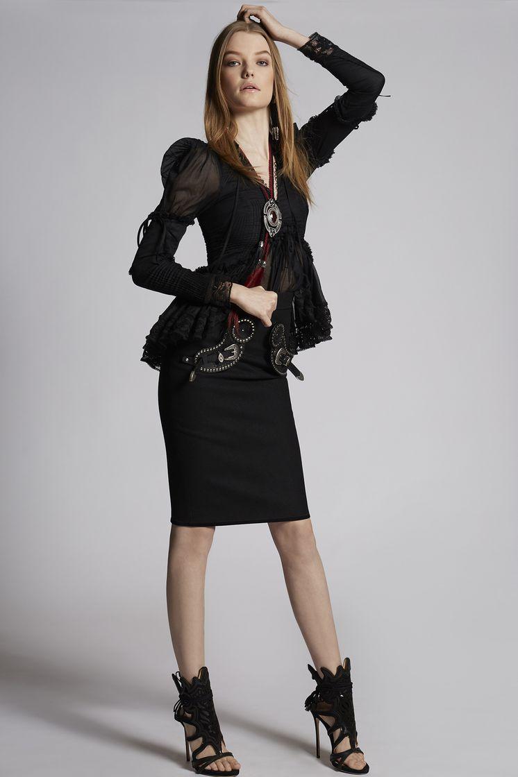 DSQUARED2 Felt Wool Rodeo Skirt Skirt Woman