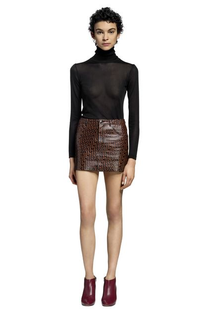 MISSONI Miniskirt Brown Woman - Back