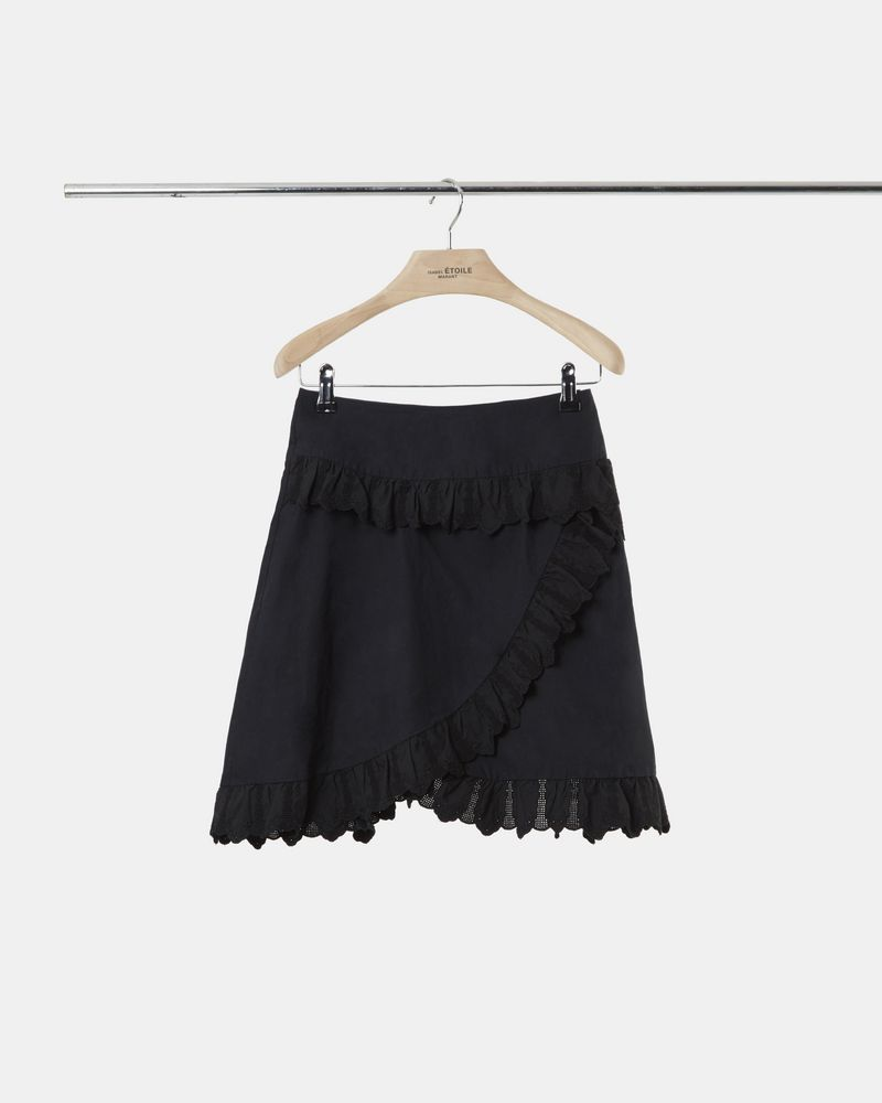 MILOU embroidered poplin skirt ISABEL MARANT ÉTOILE
