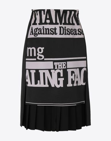 MAISON MARGIELA Knee length skirt [*** pickupInStoreShipping_info ***] Vitamin print skirt f