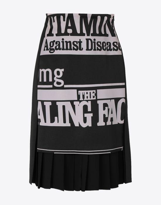 MAISON MARGIELA Vitamin print skirt Knee length skirt [*** pickupInStoreShipping_info ***] f
