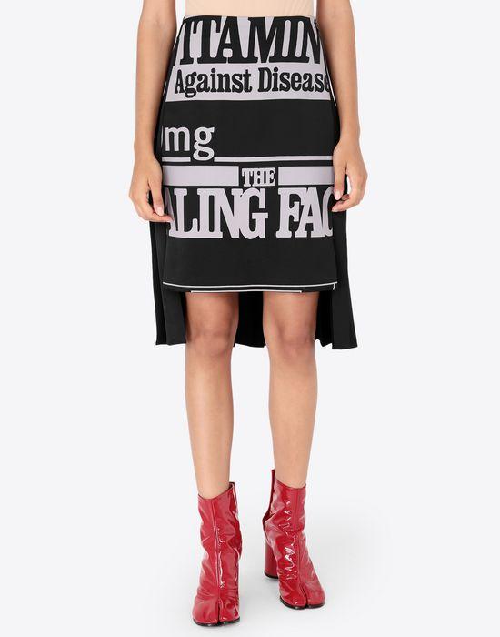MAISON MARGIELA Vitamin print skirt Knee length skirt [*** pickupInStoreShipping_info ***] r