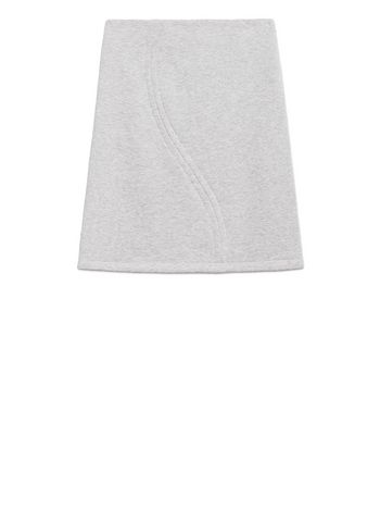 Marni GRAY MELANGE COTTON SKIRT Woman
