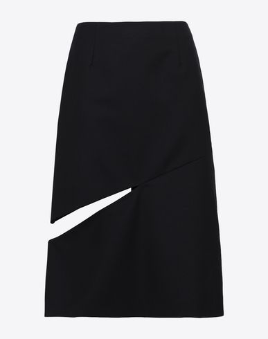 MAISON MARGIELA Knee length skirt [*** pickupInStoreShipping_info ***] Décortiqué asymmetrical skirt f
