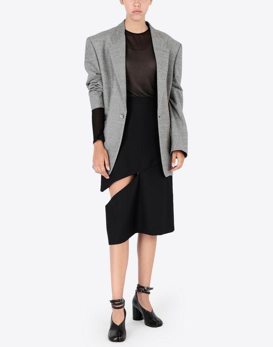 MAISON MARGIELA Décortiqué asymmetrical skirt Knee length skirt [*** pickupInStoreShipping_info ***] d