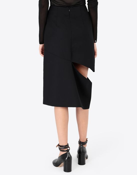 MAISON MARGIELA Décortiqué asymmetrical skirt Knee length skirt [*** pickupInStoreShipping_info ***] e
