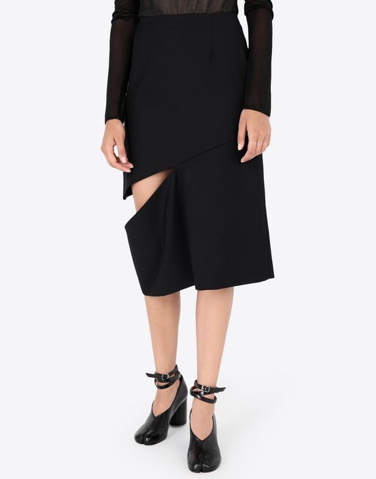 MAISON MARGIELA Décortiqué asymmetrical skirt Knee length skirt [*** pickupInStoreShipping_info ***] r