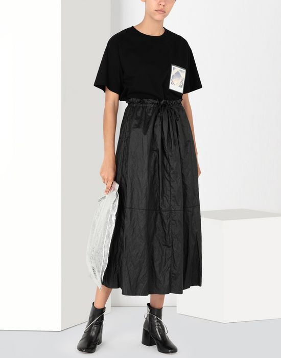 MM6 MAISON MARGIELA Crinkled patchwork midi skirt Long skirt [*** pickupInStoreShipping_info ***] r