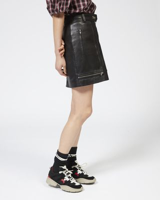 ISABEL MARANT ÉTOILE SHORT SKIRT Woman ALYNNA leather skirt r